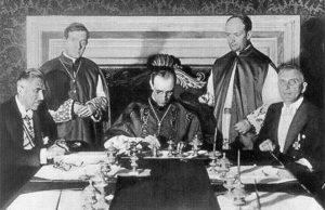 Firma del concordato entre el gobierno nazi y el Vaticano