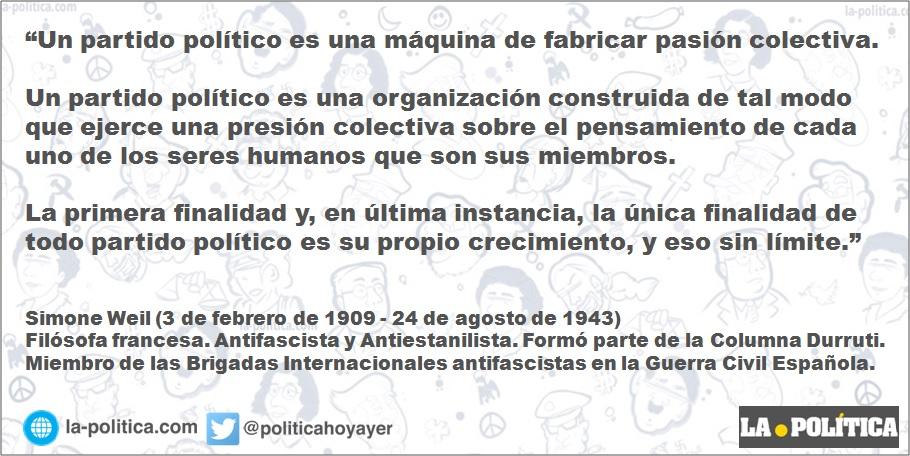 Simone Weil: Los partidos políticos