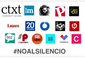 Medios que apoyan la manifestación contra asesinatos de periodistas en México