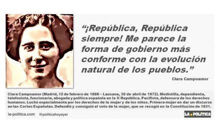 Clara Campoamor: ¡República, República siempre!