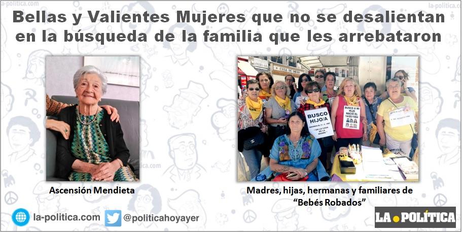 """Un domingo con """"Bellas y Valientes Mujeres"""" que no se desalientan en la búsqueda de la familia que les arrebataron"""