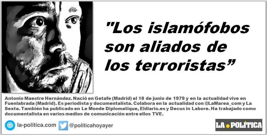 """Antonio Maestre: """"Los islamófobos son aliados de los terroristas"""""""
