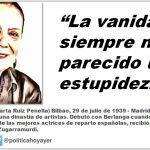 """Terele Pávez: """"La vanidad siempre me ha parecido una estupidez"""""""