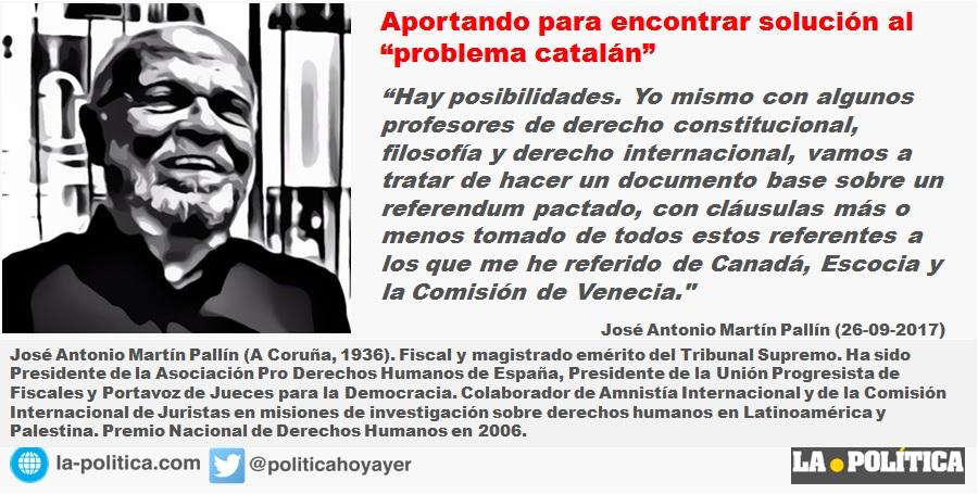 """José Antonio Martín Pallín juez emérito TS: """"Vamos a tratar de hacer un documento base sobre un referendum pactado"""""""