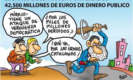 """Antes de la crisis financiera del 2009 el Gobierno miró para otro lado: Consecuencias terribles. Ahora con el """"Problema catalán"""": ¿Dónde ha mirado y mira?"""