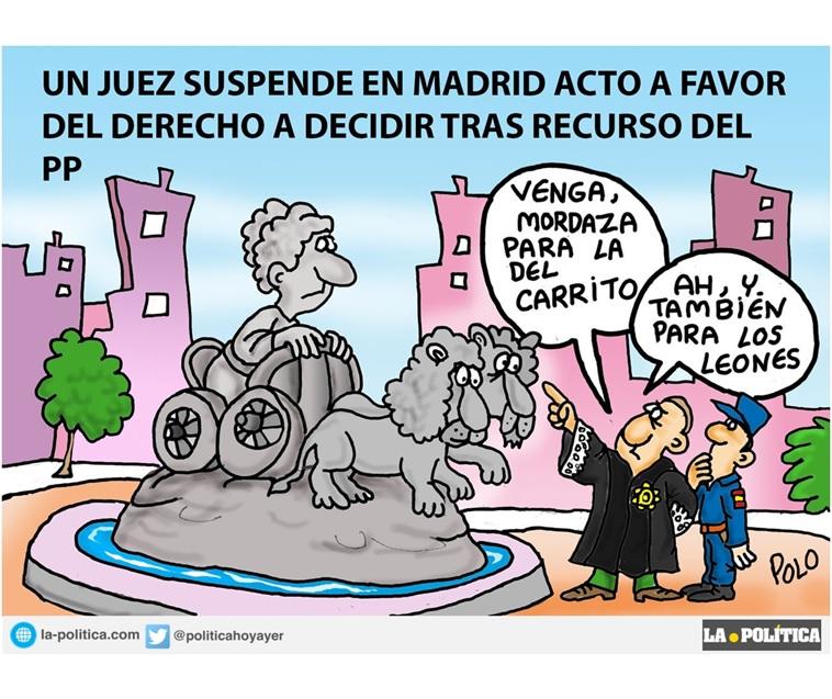 """La Plataforma Madrileñ@s por el derecho a decidir mantiene su acto """"En Madrid por el derecho a decidir"""" a favor del 1-0"""