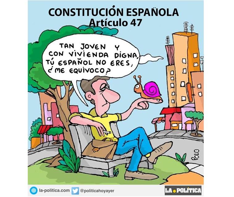 """Menos de 2 de cada 10 jóvenes pueden emanciparse. Un derecho de la Constitución demasiado olvidado:  """"El derecho a la vivienda"""""""