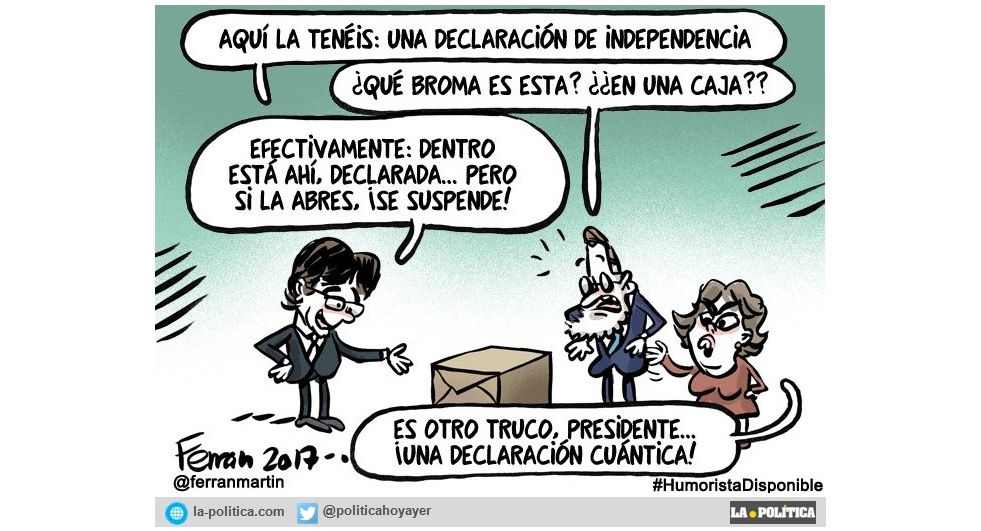 La declaración de independencia de Puigdemont, una escenificación política de la paradoja de Schrödinger