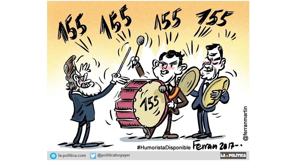 El PSOE se une a la comparsa de PP y C´s para anunciar a bombo y platillo la aplicación de un duro e inaudito 155