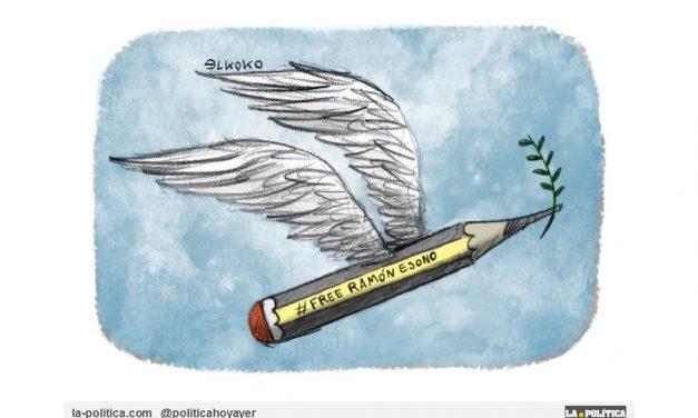 Más de 100 humoristas gráficos españoles denunciaron el injusto encarcelamiento de Ramón Esono, preso en Guinea Ecuatorial, en su manifiesto #HumorAmenazado