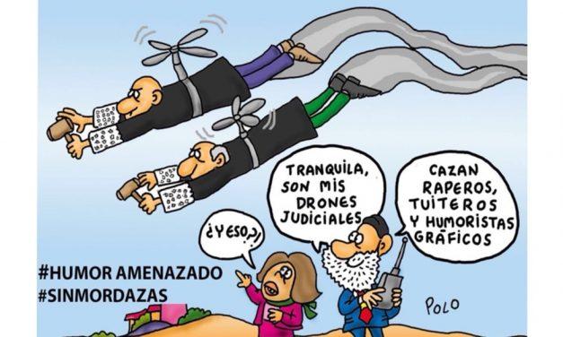 """La acción en Redes Sociales #SinMordazas para cambiar la """"Ley Mordaza"""", contó con el apoyo de Humoristas Gráficos del manifiesto #HumorAmenazado"""