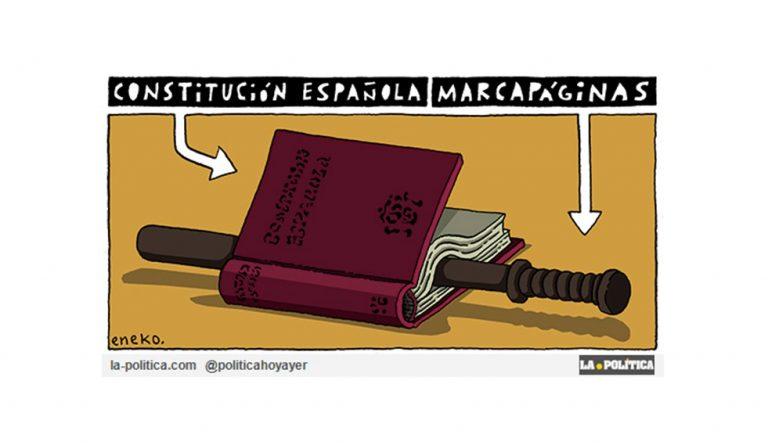Catalunya, libertad Artículo Caracola Viñeta Eneko