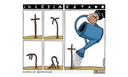 La Iglesia católica empobrecida espiritualmente y en decadencia, es alimentada por el Estado