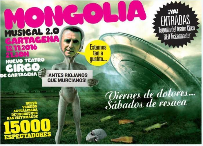 Cartel Ortega Cano - Musical Revista Mongolia