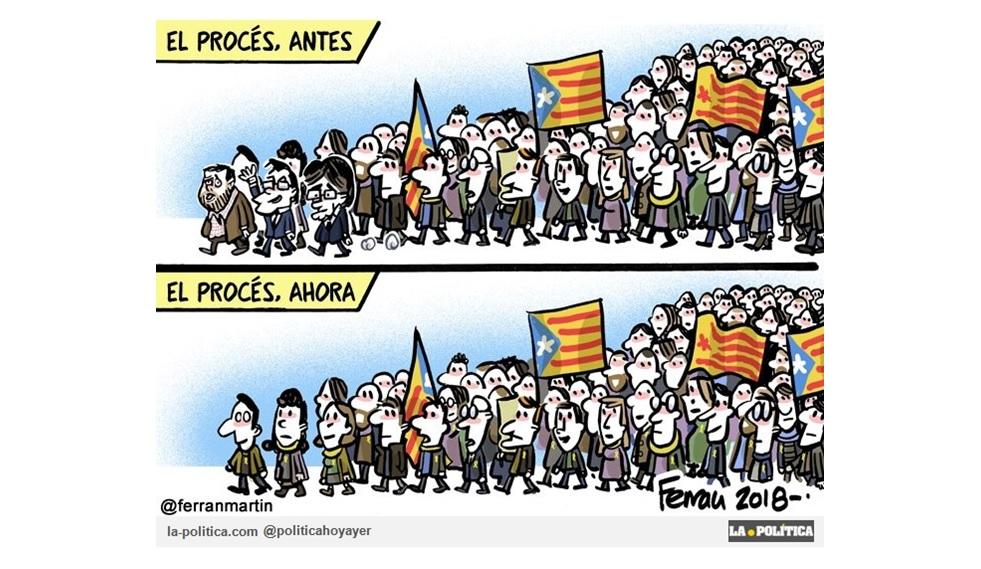 Las calles se llenan de nuevo en Catalunya, tras la puesta en prisión de diputados del Parlament el pasado viernes y la detención de Carles Puigdemont en Alemania