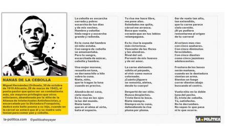 """Dedicado a las niñas y niños que pasaron hambre, a los que fueron encerrados en lúgubres orfanatos o robados y entregados a familias franquistas, a los que murieron y a los que no nacieron por una Maldita Guerra: """"Nanas de la cebolla"""" de Miguel Hernández"""