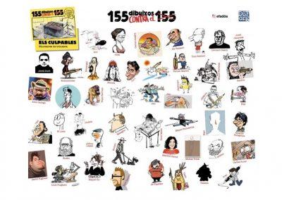 """Libro colectivo: """"155 dibuixos contra el 155"""""""