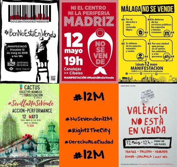 Movilizaciones de 12 de mayo contra la gentrificación