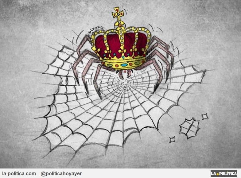 OPINIÓN | Tras las últimas informaciones sobre el Rey Juan Carlos I ¿No es hora de preguntarse por qué los grandes medios han ocultado los tejemanejes de la Corona y siguen protegiéndola? ¿Red clientelar? ¿Se acabará? Viñetas Eneko y El Koko Artículo Simone Renn