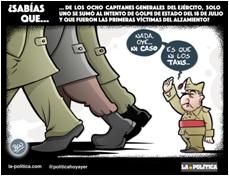 Tan solo uno de los ocho capitanes generales del Ejército de la República se unió a los militares rebeldes fascistas en el intento de golpe de Estado del 36 - Viñeta de Ben