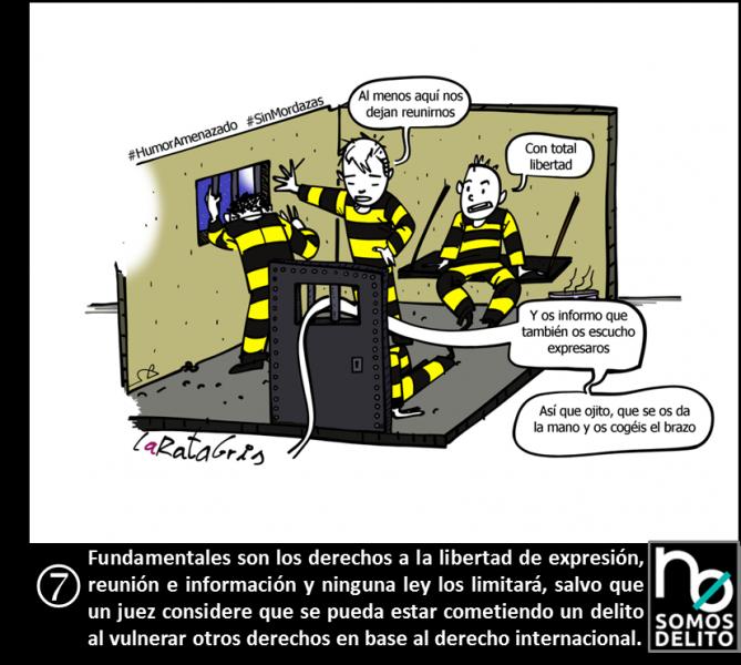 Viñeta La Rata Gris - Ley Mordaza