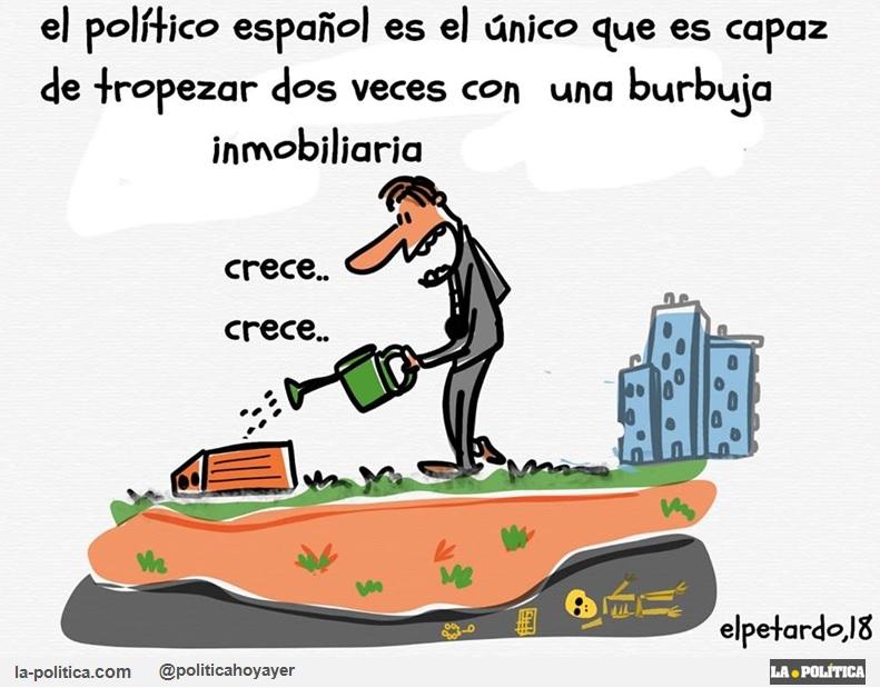 ¡Y no aprendemos! Hacia la mayor burbuja inmobiliaria de nuestra historia y nadie la para Artículo Simone Renn Viñeta El Petardo