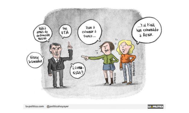 """La exhumación de Aznar """"el ególatra"""""""