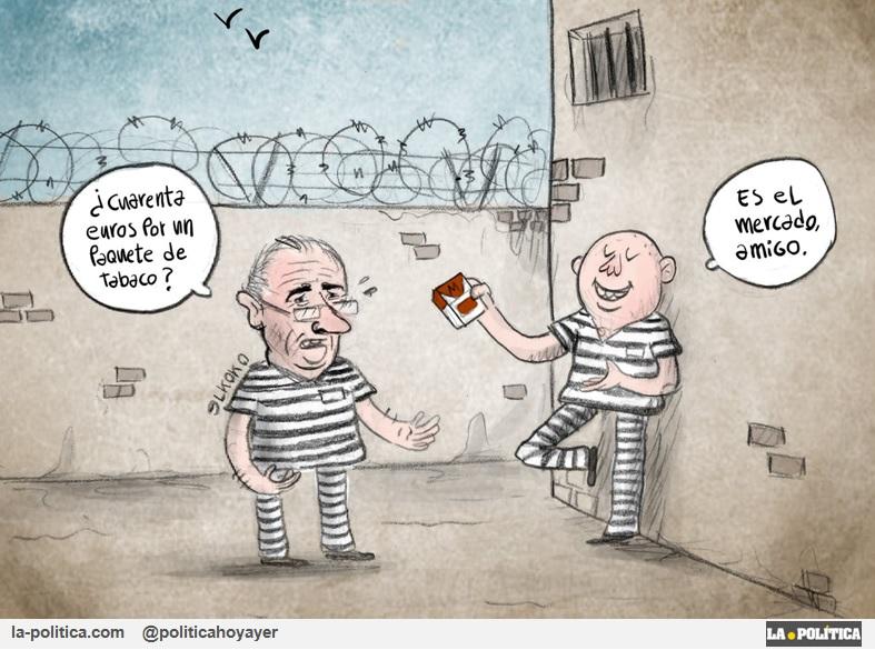 Rato, uno de los delincuentes económicos más peligrosos de la historia de España, entra en la cárcel Artículo @SimoneRenn Viñetas @ARTSENALJH y @Elkokoparrilla