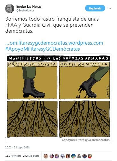 La Política #ApoyoMilitaresyGCDemócratas Eneko
