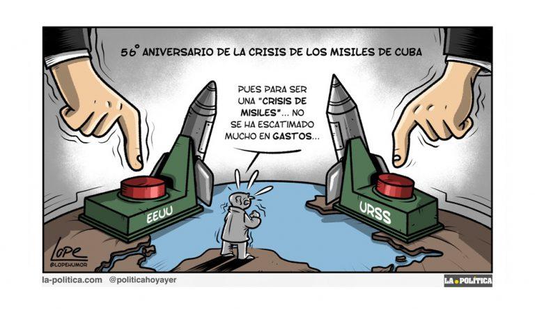 ANÁLISIS | La crisis de los misiles, que conmocionó al mundo Artículo Víctor Arrogante Viñeta Lope