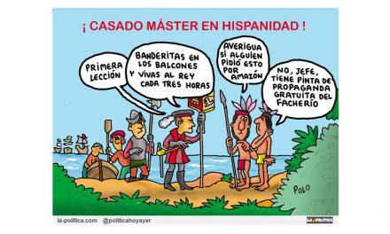 Pablo Casado tampoco fue a clase de Historia