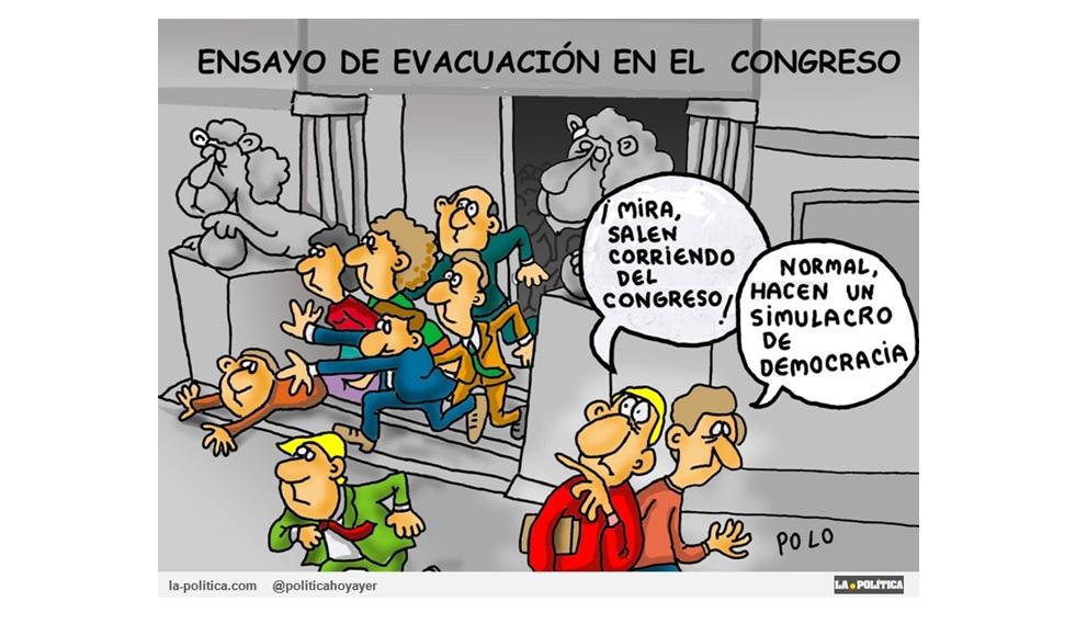 Los diputados huyeron del Congreso. Tranquilos, fue un simulacro ;)