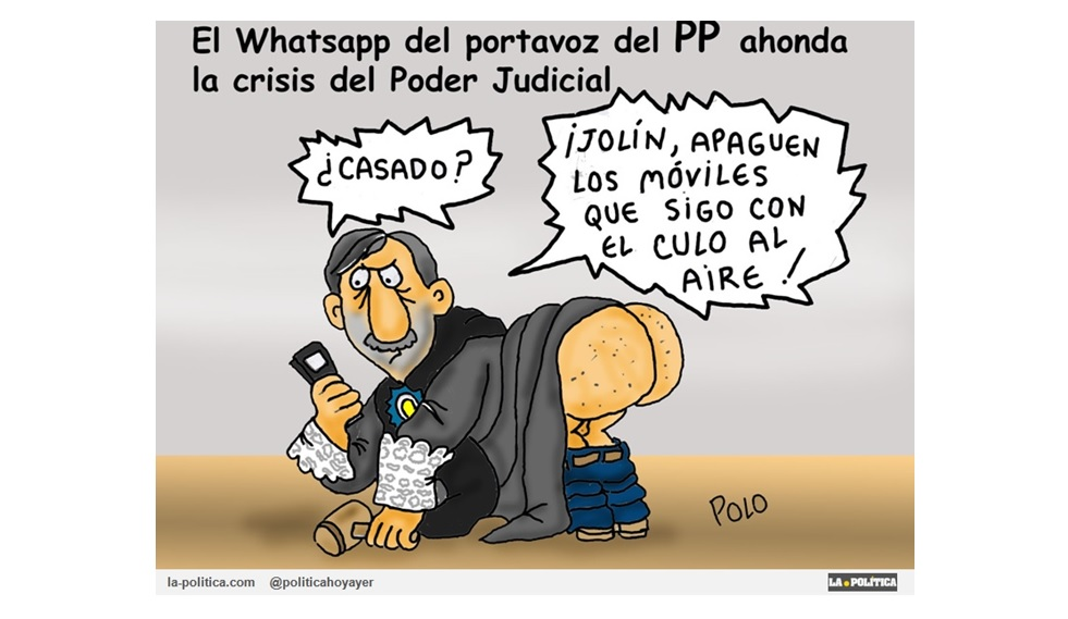 La filtración de un mensaje del grupo de Whatsapp de los senadores del PP hace tambalear la credibilidad de la Justicia en España