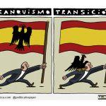 La rojigualda manchada por un águila, en malas compañías anduvo con banderas de cruz gamada