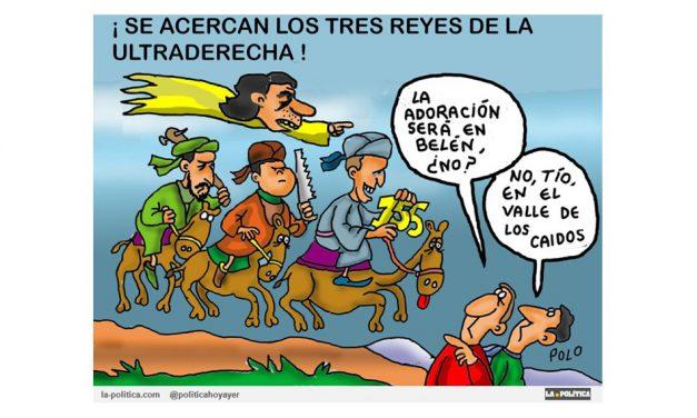 Llegan los 3 Reyes del 155 guiados por «Aznar, el iluminado»