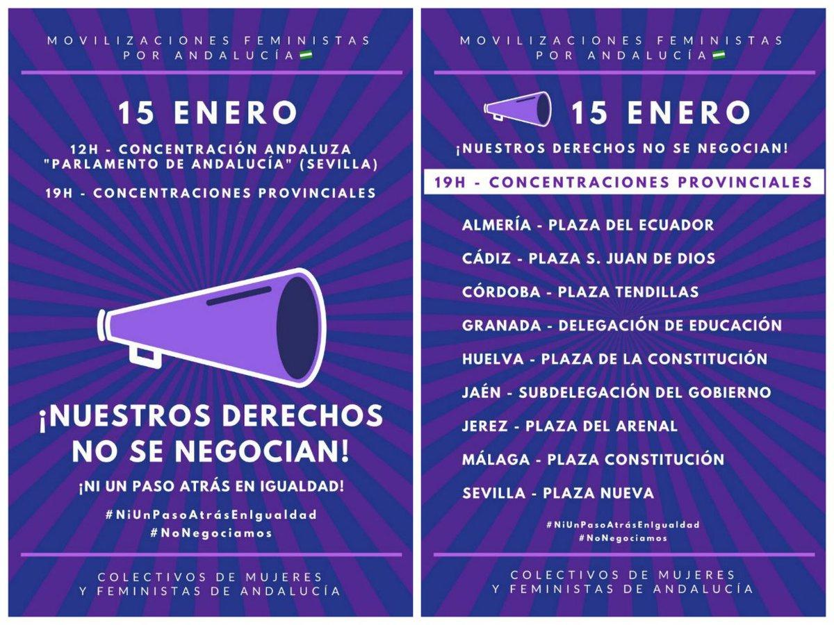 Manifestación Ni un paso atrás en Andalucía