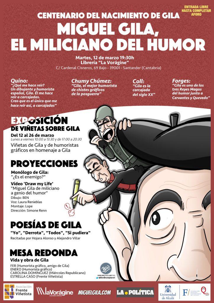Cartel centenario de Miguel Gila