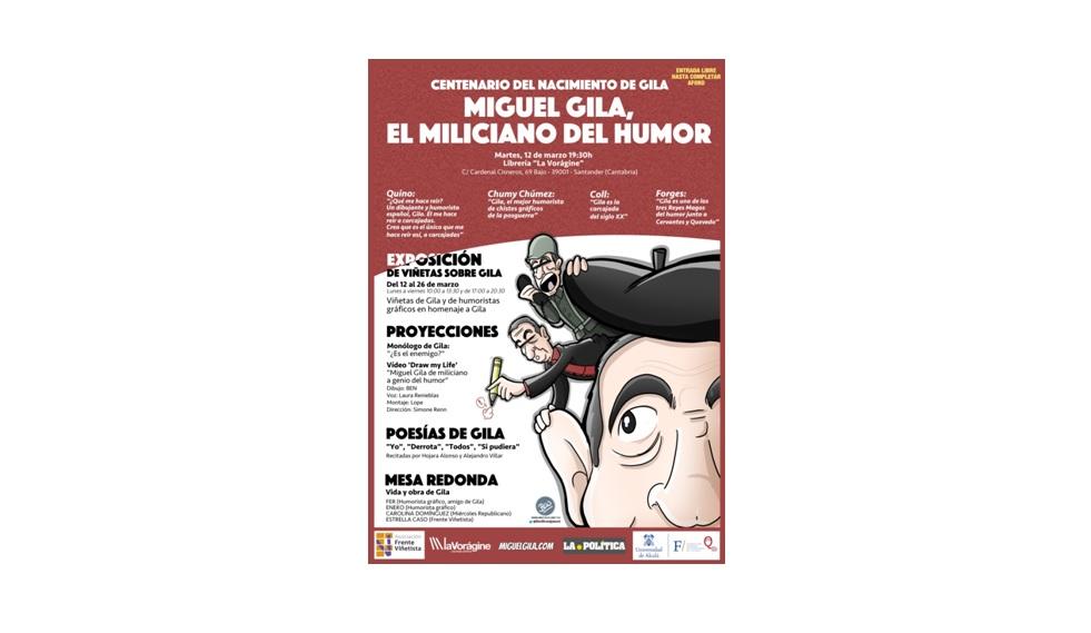Evento y exposición de viñetas de Miguel Gila y de humoristas gráficos de toda España en el homenaje del centenario del nacimiento del Maestro del Humor