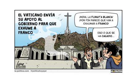 Ni Franco dio la orden de ser enterrado en el Valle de los Caídos ni su mujer lo quiso, fue orden del recién estrenado jefe de Estado Juan Carlos I y menuda herencia nos dejó
