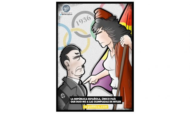 La República Española el único país que dijo NO a los Juegos Olímpicos de Hitler Viñeta de Ben