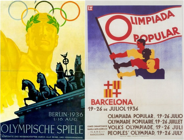 Juegos Olímpicos de Hitler versus Olimpiada Popular de Barcelona