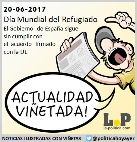 """""""Día Mundial del Refugiado"""" El Gobierno de España sigue sin cumplir con el acuerdo firmado con la UE"""