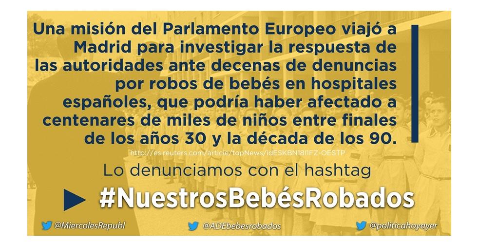 #NuestrosBebésRobados una exitosa acción conjunta en Twitter, para denunciar la impunidad y el olvido de las instituciones españolas