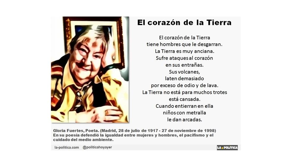 Gloria Fuertes Poeta Antibelicista Cuya Efigie Cruza Hoy Los