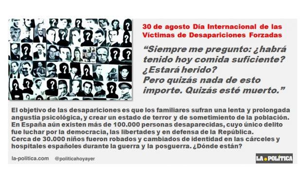 Día Internacional de las Víctimas de Desapariciones Forzadas, 30 de agosto