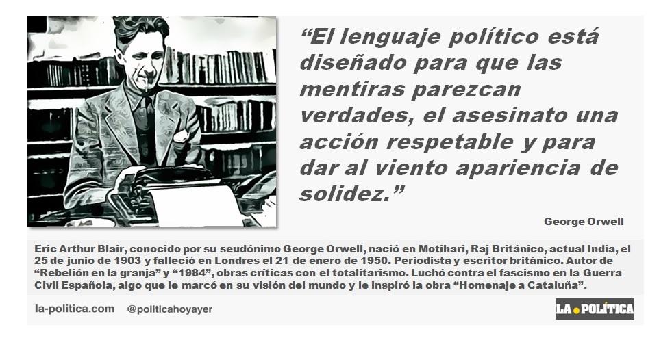 George Orwell: El lenguaje político