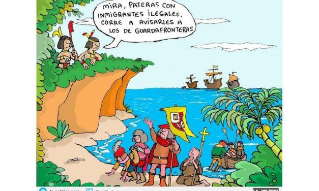 Viñeta de Polo. En el Día de la Hispanidad recordamos a Hatuey el Primer Rebelde de América
