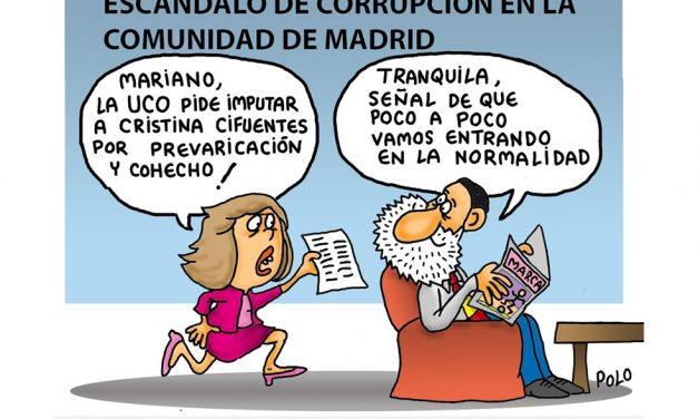 Todo normal, todo correcto, más casos denunciados de corrupción, malversación y prevaricación en el PP: Cifuentes, Aguirre y Gallardón