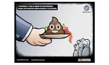 Polémica por el menú de Nochebuena para los policías desplazados a Cataluña