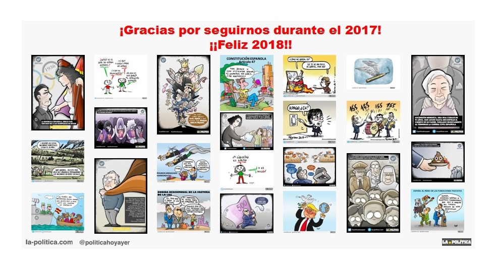 ¡Muchas gracias por seguirnos durante el 2017! ¡¡FELIZ 2018!!